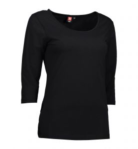 Stretch dame T-shirt|3/4-ærmet