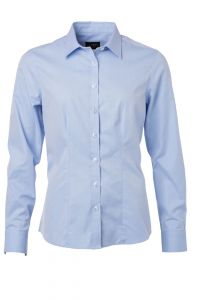 Ladies' Shirt Longsleeve Herringbone