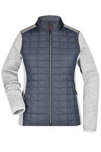 Ladies ' Knitted Hybrid Jacket