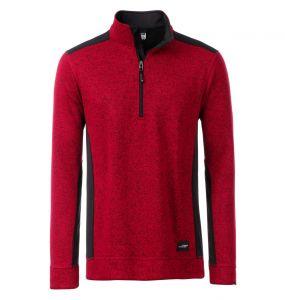 Men's Knitted Workwear Fleece Half-Zip - STRONG -