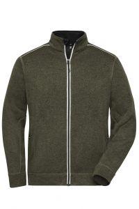 Men's Knitted Workwear Fleece Jacket - SOLID -