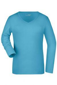 Ladies' Stretch V-Shirt Long-Sleeved