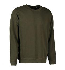 Økologisk sweatshirt med O-hals herre