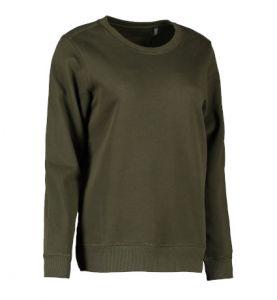 Økologisk sweatshirt med O-hals til damer | TRYK PÅ TØJ