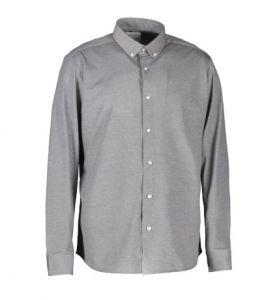Langærmet jerseyskjorte til mænd