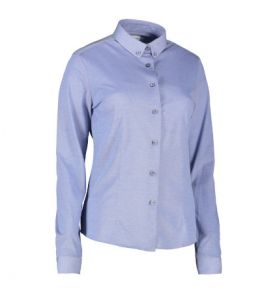 Langærmet jerseyskjorte til damer