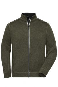 Men's Knitted Workwear Fleece Jacket - SOLID -